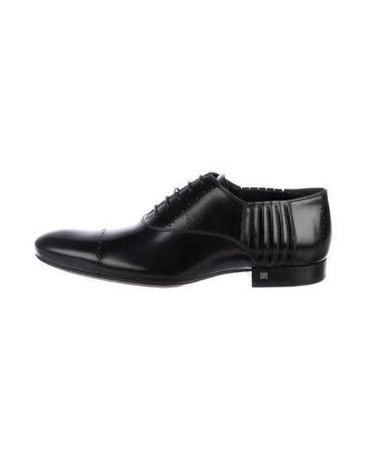 cb3eda02abc Louis Vuitton - Black Leather Lace-up Oxfords for Men - Lyst ...