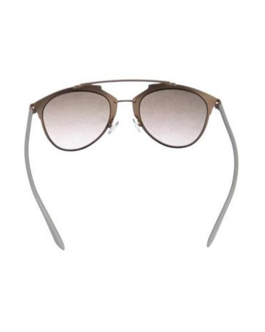473bc768dc9d ... Dior - Metallic Reflected Aviator Sunglasses Gold - Lyst ...