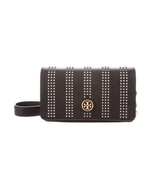 a50191581cee Tory Burch - Metallic Robinson Perf Mini Bag W  Tags Black - Lyst ...