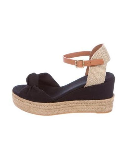 03b9b7c98 Tory Burch - Black Knotted Espadrille Sandals - Lyst ...