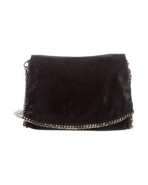 604760e37216 Stella McCartney - Metallic Falabella Crossbody Bag Black - Lyst ...