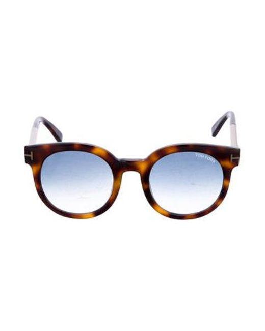 94d3f1f752 Tom Ford - Metallic Jenina Gradient Sunglasses Brown - Lyst ...
