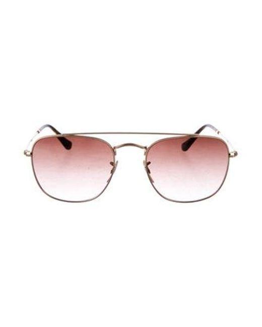 b117cfcec80 Ray-Ban - Metallic Gradient Aviator Sunglasses Gold for Men - Lyst ...