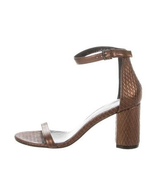 690d6e8ff338 Stuart Weitzman - Brown Leather Quilted Sandals W  Tags - Lyst ...