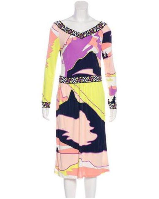 ced3d9f9513e Emilio Pucci - Purple Jersey Midi Dress - Lyst ...