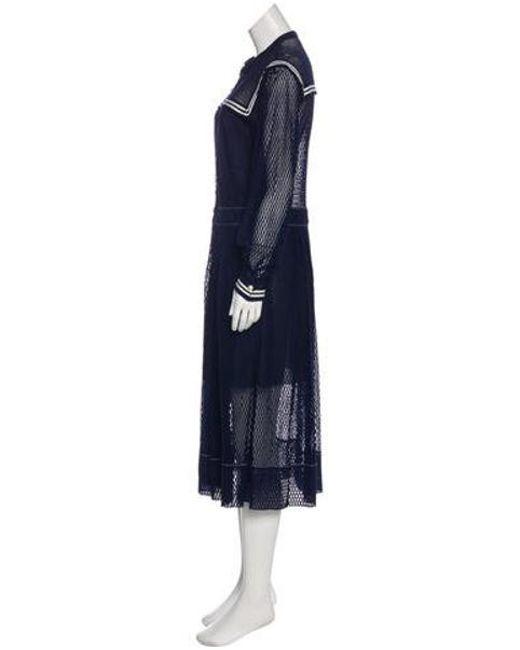 ... Philosophy Di Lorenzo Serafini - Blue Lace Midi Dress W  Tags - Lyst ... bf8975d13