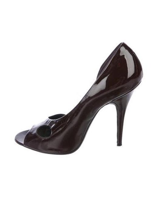 02023315514 Givenchy - Red Patent Leather Peep-toe Pumps Burgundy - Lyst ...