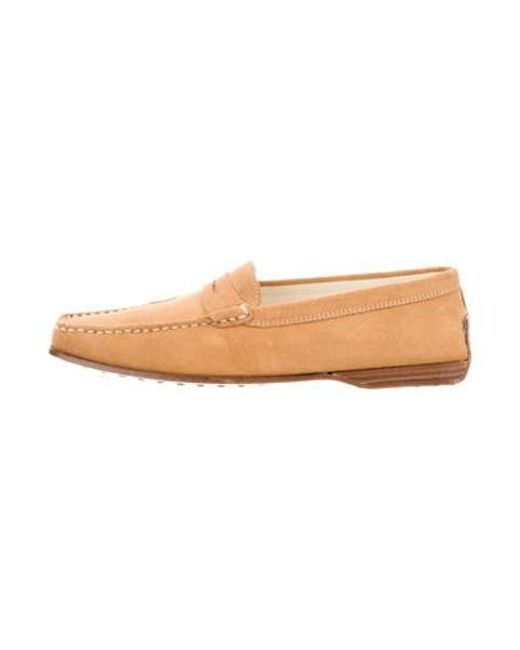 be11e7e47f5 Tod s - Natural Square-toe Suede Loafers W  Tags Tan - Lyst ...