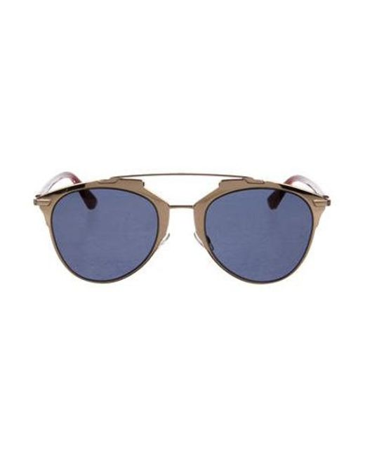 c14eef78b462c Dior - Metallic Reflected P Aviator Sunglasses Gold - Lyst ...