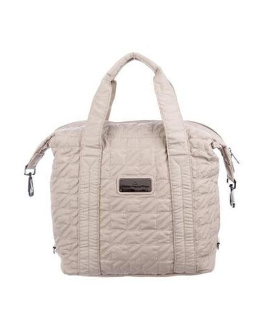 Stella McCartney - Gray Quilted Gym Bag Grey - Lyst