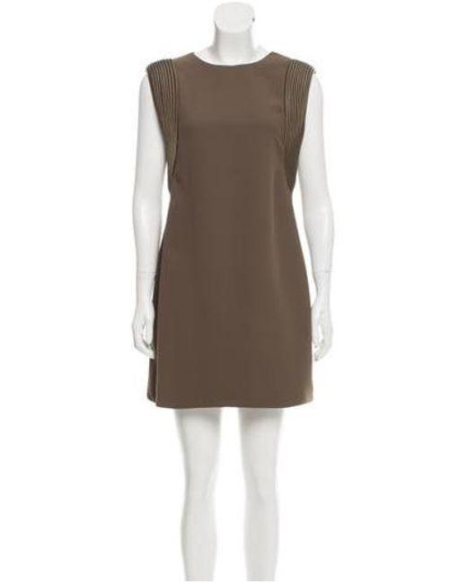 029ef074 Brandon Maxwell - Green Structured Mini Dress Olive - Lyst ...