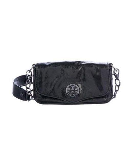 d2c87a643d57 Tory Burch - Natural Leather Logo Clutch Black - Lyst ...