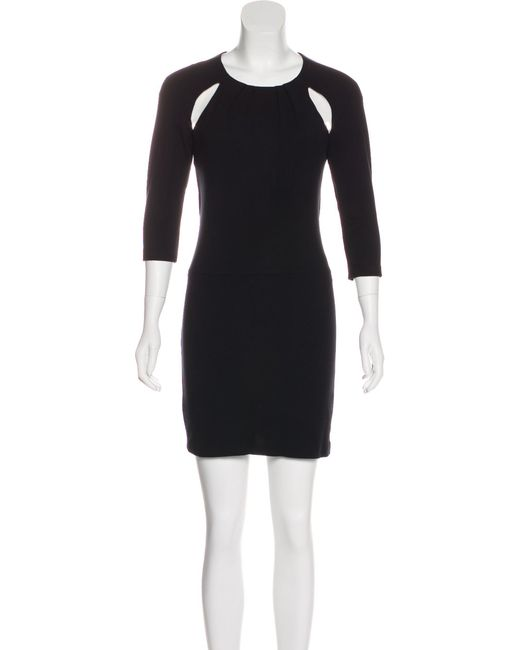 b7b6f5cb059 Maje - Black Long Sleeve Mini Dress - Lyst ...
