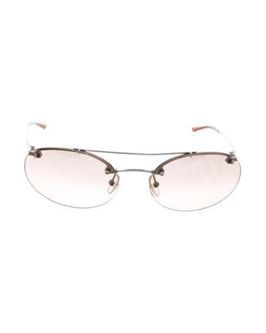 107afc9fa94 Dior - Brown Oval Mirrored Sunglasses - Lyst ...