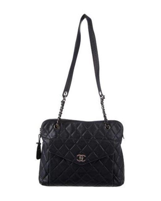 Chanel - Blue Vintage Caviar Cc Shoulder Bag Navy - Lyst