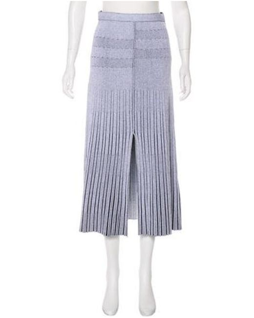 f2033bb761 Proenza Schouler - Gray Rib Knit Midi Skirt Grey - Lyst ...