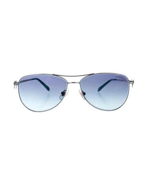 23ebff98c6 Tiffany   Co - Metallic Gradient Aviator Sunglasses Silver - Lyst ...