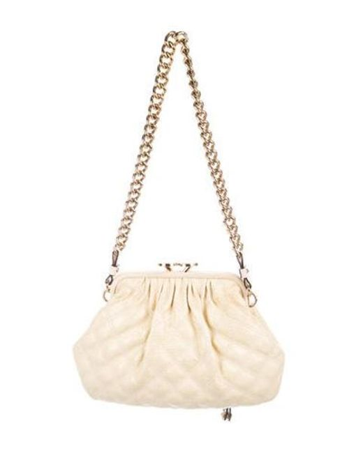 48974e8af375 ... Marc Jacobs - Metallic Python-trimmed Little Stam Bag Gold - Lyst