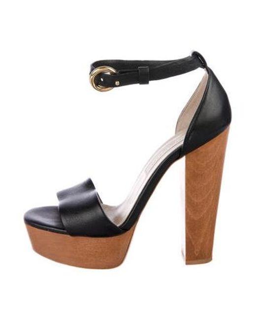 e103ed4f877 Stella McCartney - Metallic Vegan Platform Sandals Black - Lyst ...