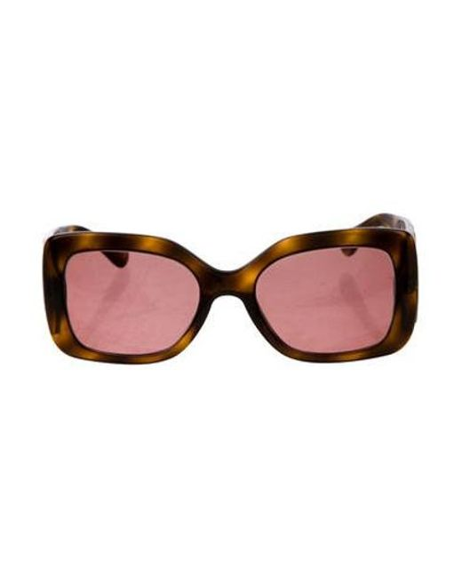 c7eb7d9cb4c Chanel - Metallic Quilted Square Sunglasses Brown - Lyst ...