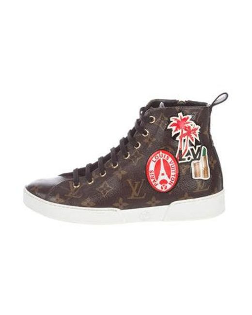 3245c66b4a7 Louis Vuitton - Natural Monogram High-top Sneakers Brown - Lyst ...