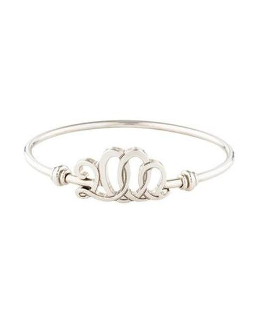 Ferragamo - Metallic 2000 Bangle Bracelet Silver - Lyst