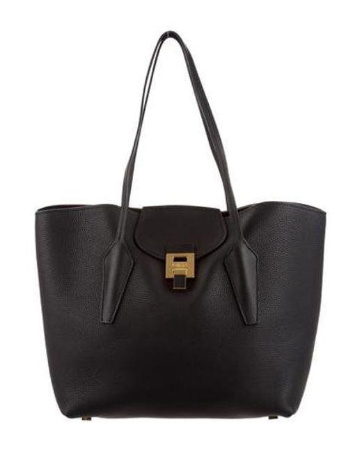 2f8973e94185 Michael Kors - Metallic Textured Leather Tote Bag Black - Lyst ...