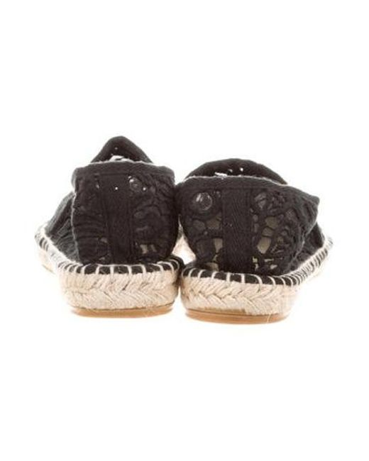 7c083ce5acb1 Lyst - Tory Burch Lucia Lace Espadrilles Black in Natural - Save ...