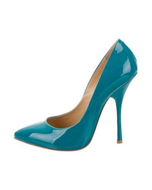 028230989e50 Giuseppe Zanotti - Blue Patent Leather Point-toe Pumps W  Tags - Lyst ...