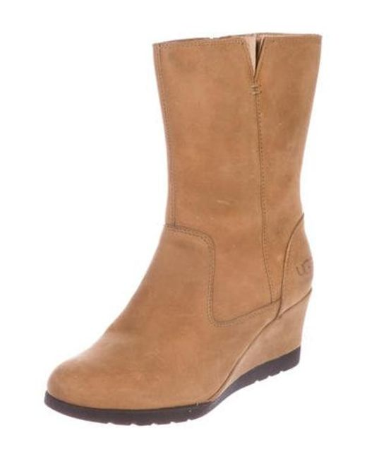 d375d0c1f1e ... Ugg - Brown Suede Wedge Boots - Lyst ...