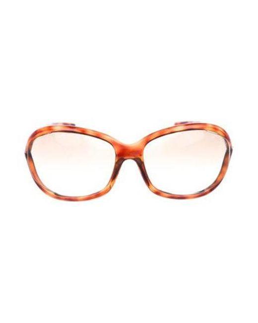 397c86d28ef Tom Ford - Metallic Tortoiseshell Gradient Sunglasses Brown - Lyst ...