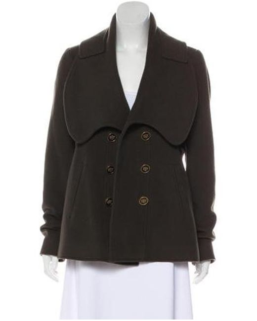 Givenchy - Green Wool Short Coat Olive - Lyst