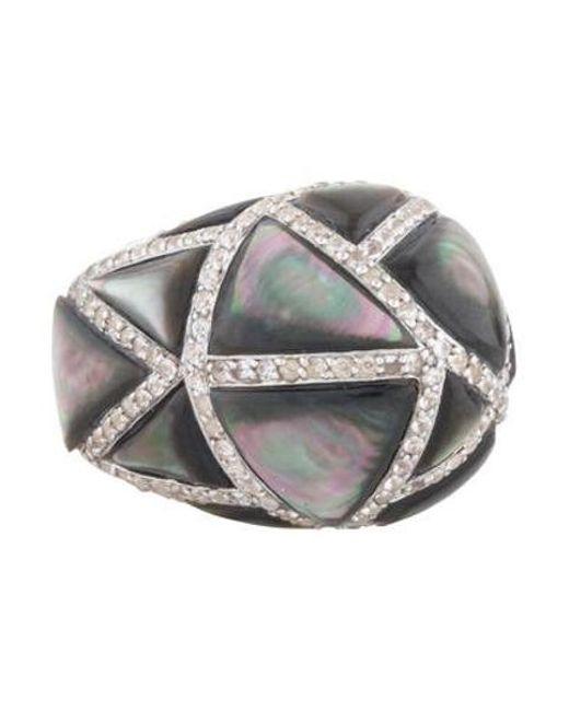 Kara Ross - Metallic Large Maze Byzantine Ring Silver - Lyst