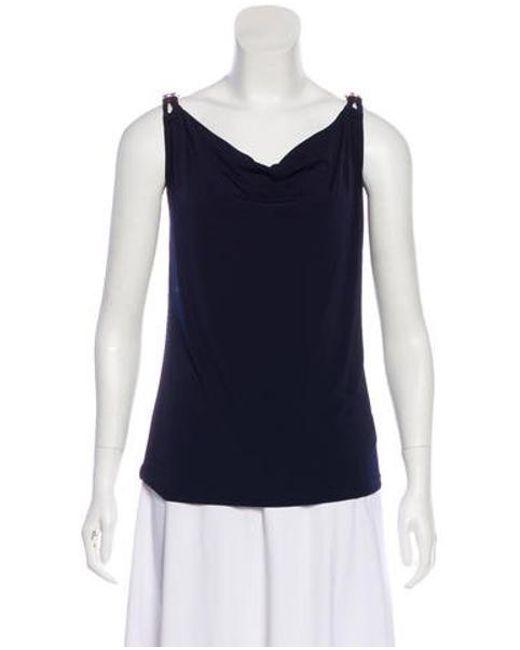 366656df29917 MICHAEL Michael Kors - Blue Michael Kors Sleeveless Knit Top Navy - Lyst ...