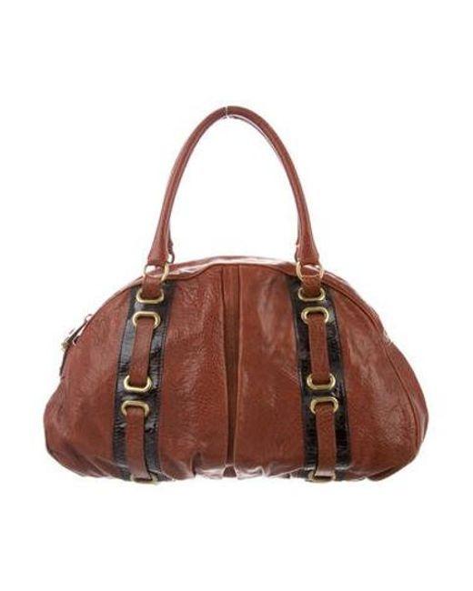 27ffcbc7e761 Marc Jacobs - Brown Grained Leather Shoulder Bag Cognac - Lyst ...
