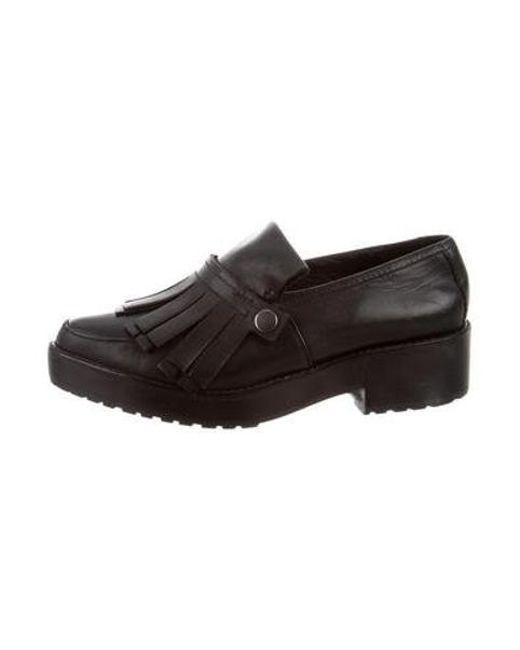 47e92210960 Tibi - Black Esmae Kiltie Loafers - Lyst ...