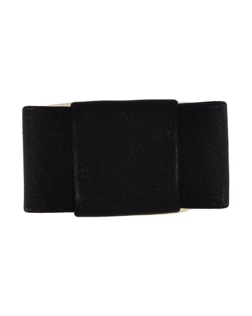 Miu Miu - Black Miu Satin Bow Cuff Bracelet - Lyst