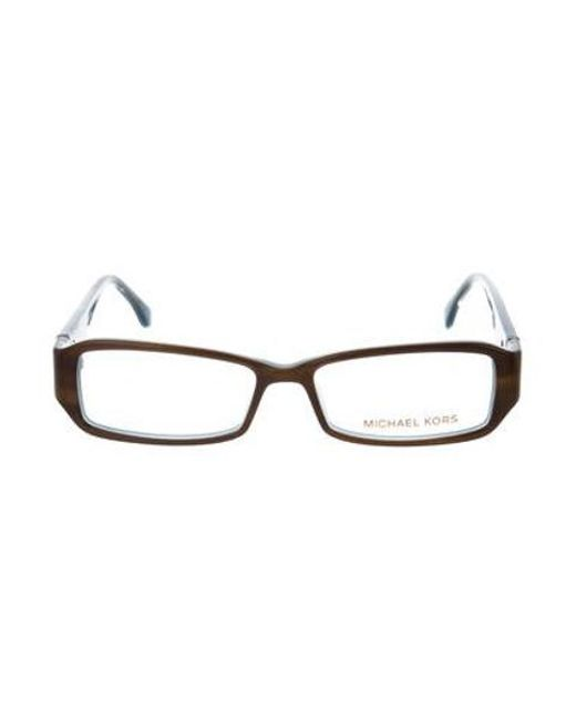 3d892fcd8a Michael Kors - Metallic Tortoiseshell Square Eyeglasses Brown - Lyst ...