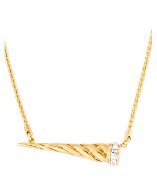 Rachel Zoe - Metallic Spike Pendant Necklace Gold - Lyst