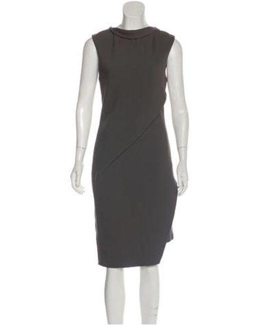 60e9333d68d12 Helmut Lang - Gray Sleeveless Midi Dress Grey - Lyst ...