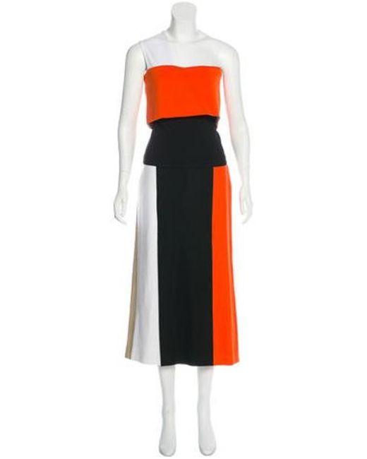 Rosetta Getty - Black One-shoulder Skirt Set - Lyst