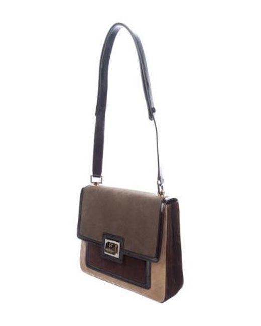 ... Ferragamo - Metallic Suede Shoulder Bag Tan - Lyst ... a0f02f0a1564c