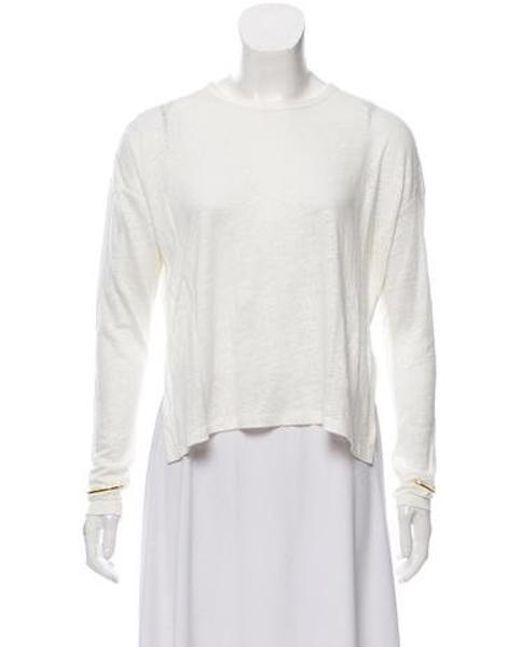 64db272e075b8 10 Crosby Derek Lam - Natural Linen Long Sleeve Top Cream - Lyst ...