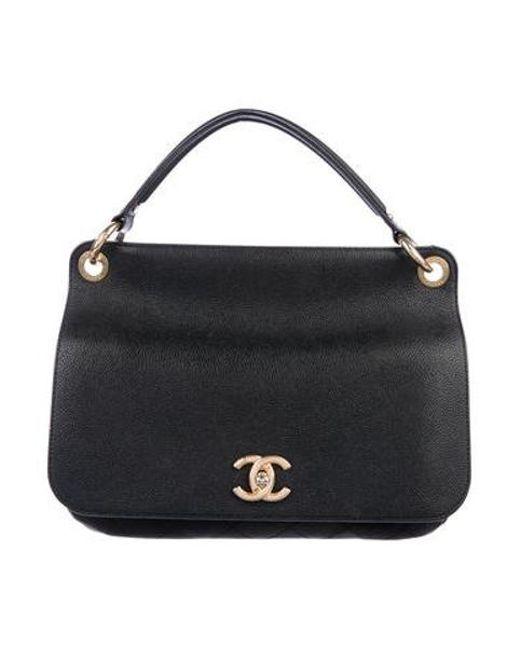 Chanel Metallic 2017 Caviar Flap Bag Black Lyst