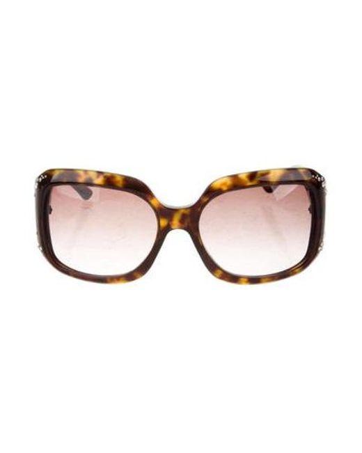 1e668b22ddfe Dior - Metallic Diorondine Embellished Sunglasses Silver - Lyst ...