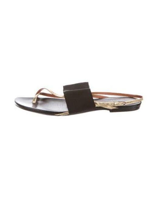 230bbb4e05d Dries Van Noten - Metallic Thong Sandals - Lyst ...