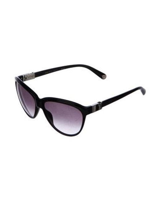 091f121eab7ac ... Louis Vuitton - Metallic Rose Glitter Sunglasses Black - Lyst ...