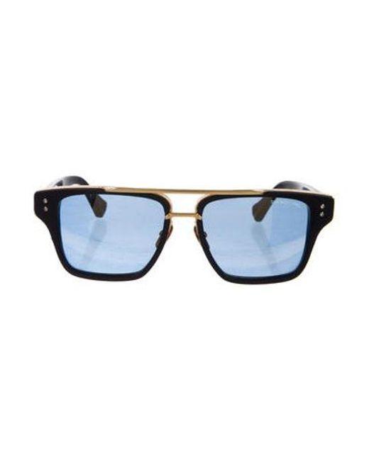 f9369123e1 Dita - Metallic Mach Three 18k Sunglasses Navy - Lyst ...
