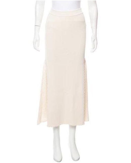 Derek Lam - White Knit Midi Skirt W/ Tags - Lyst