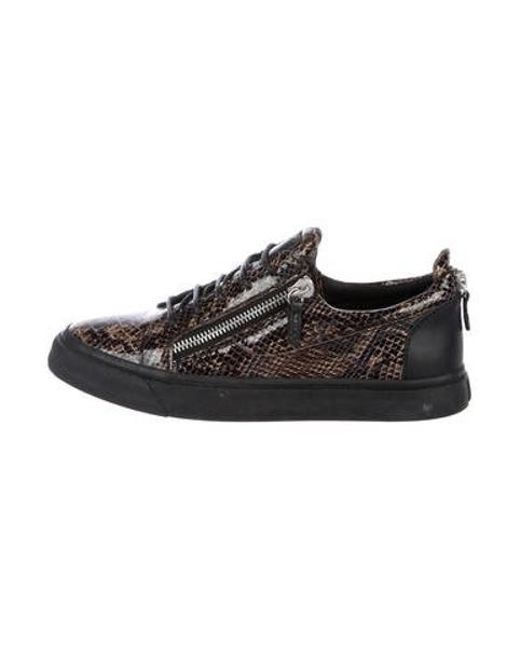 b4342d517bf8 Giuseppe Zanotti - Brown Ringo Embossed Leather Sneakers for Men - Lyst ...